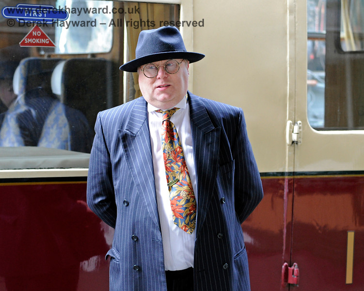 Tim Baker's tailor may have failed him on this occasion, especially in the choice of hat.   Horsted Keynes 10.05.2014 11241