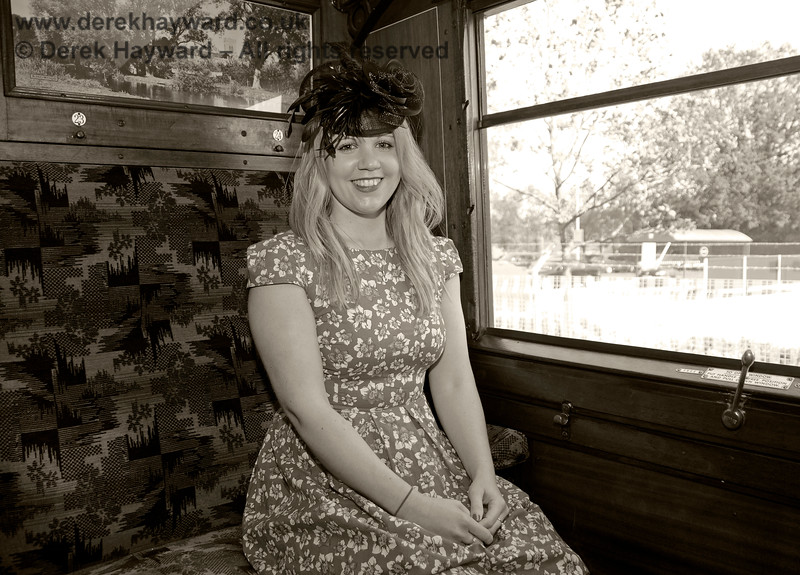 "Louise in ""vintage"" mode near Kingscote. 10.05.2015 12597"