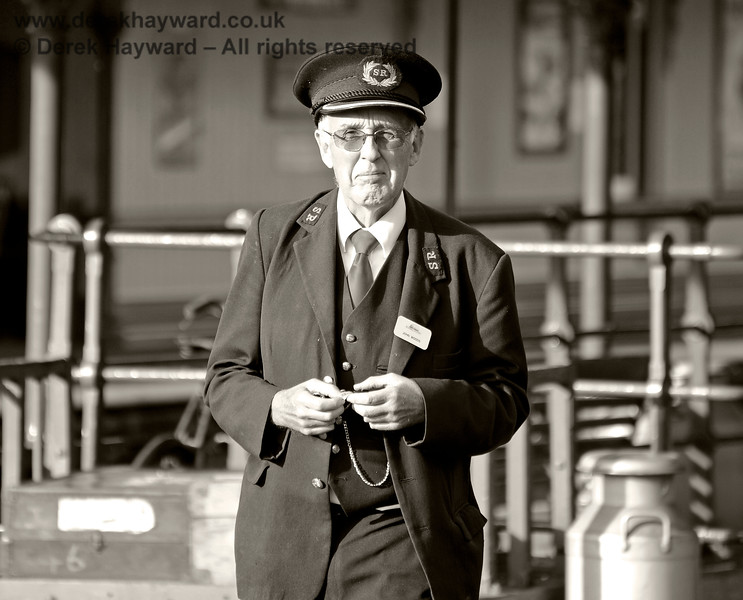 Station Master John Woods at Horsted Keynes. 05.10.2014 10082