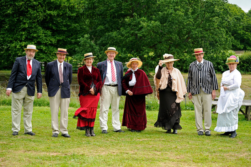 A slightly windswept Edwardian group at Horsted Keynes.  Good show!  22.06.2013 7381