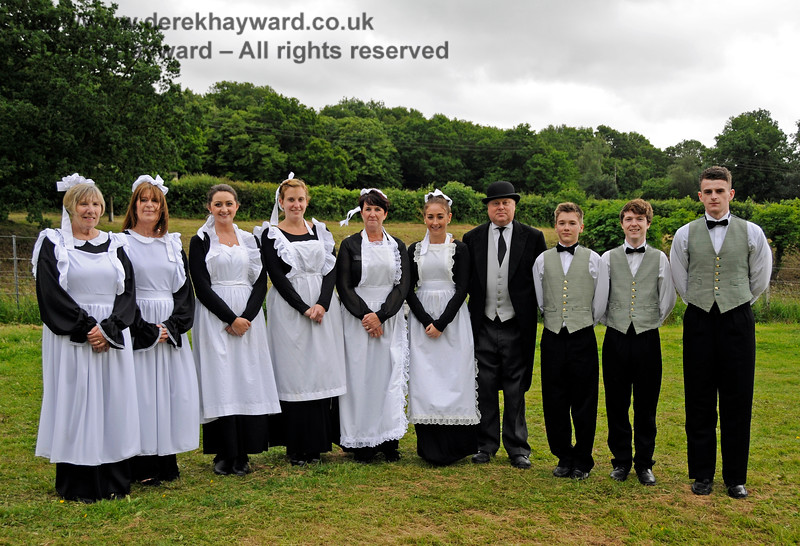 The Butler and domestic staff of a large country house, pictured at Horsted Keynes.  Don't mention the television series... 22.06.2013 9096