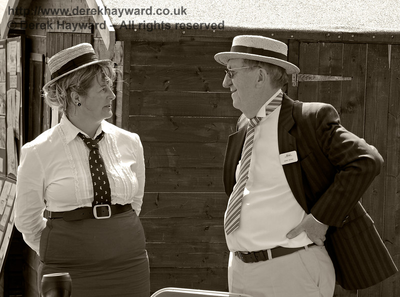 Heidi and Gerry in Edwardian costume at Horsted Keynes. 18.05.2014 9412