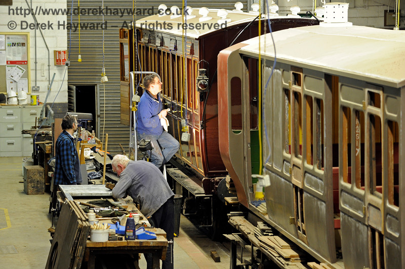 A team inside the Carriage & Wagon Works at Horsted Keynes working to their normal high standard.  28.02.2016 12704