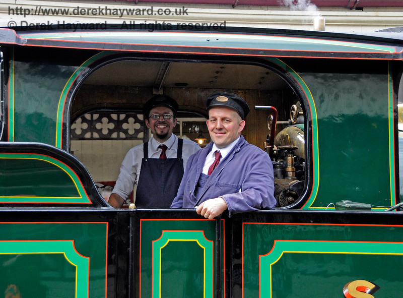 Tim Gray and a colleague on board 263 at Sheffield Park. 23.06.2018 18626