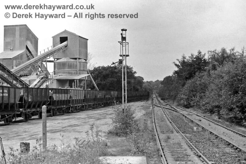 Ardingly Station looking west away from the station towards Copyhold Junction on 9 August 1970. Eric Kemp retains all rights to this image.