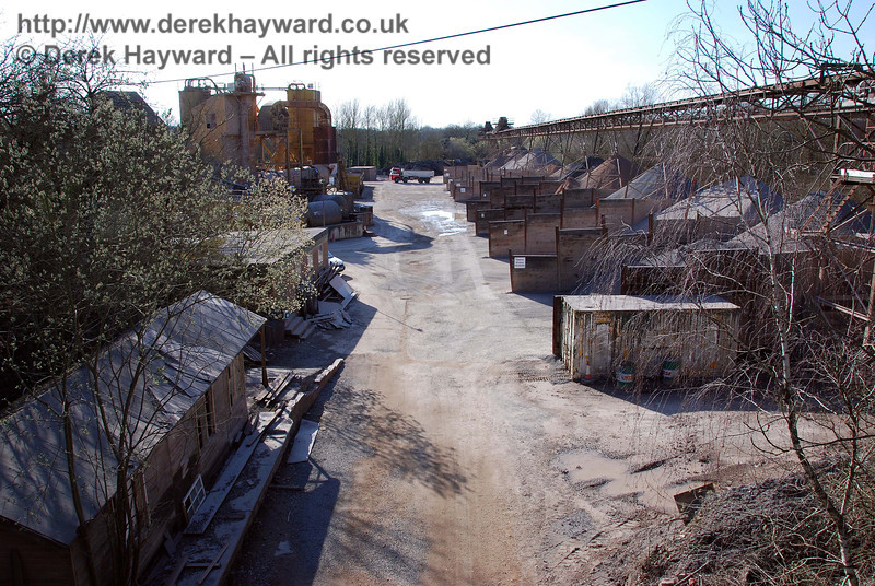 Compare the historical views above with this image (taken from the bridge) which looks west along the trackbed through the Ardingly Station site.