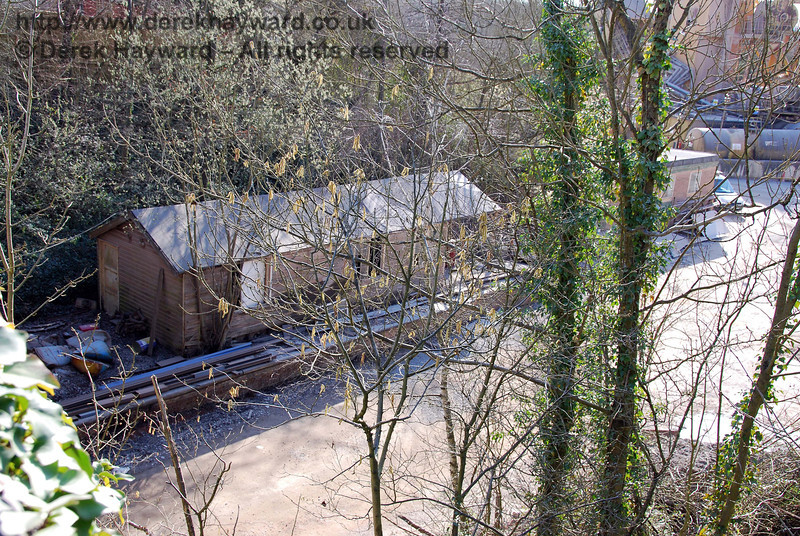 A small part of Ardingly Station platform remains, on which this building stands.