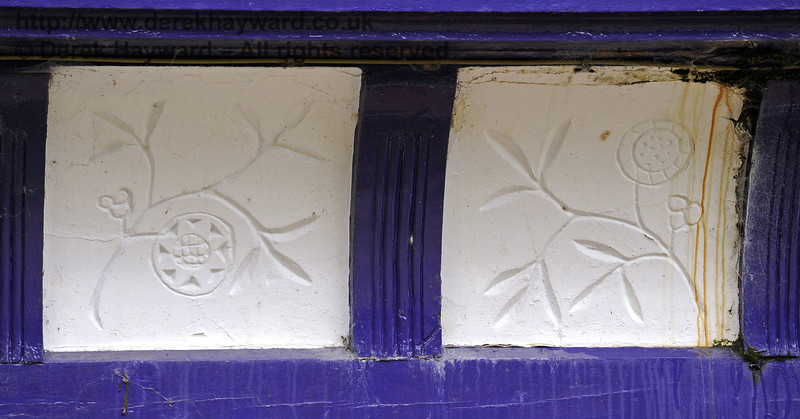 Some of the plasterwork at Barcombe Station,  28.07.2014  9914