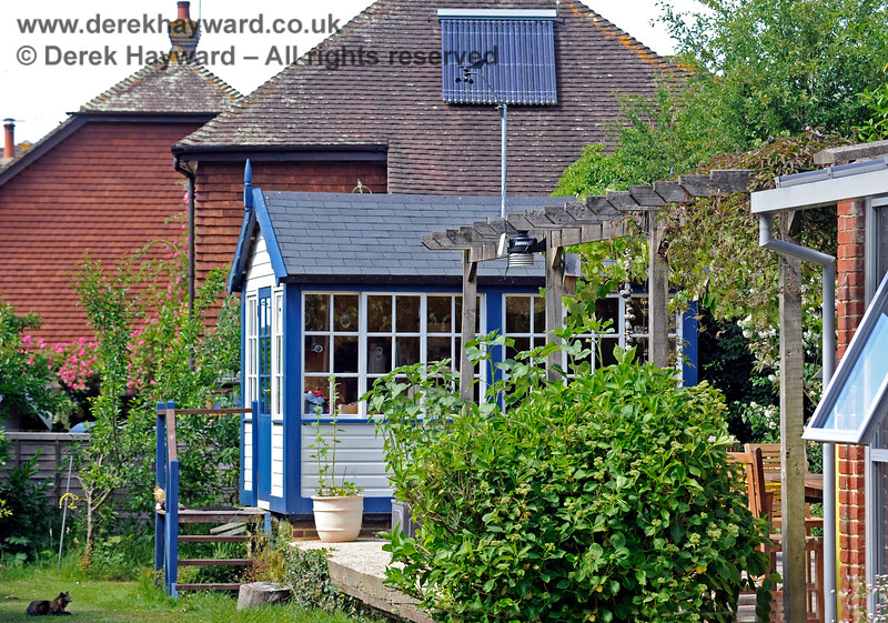 The new signal box at Barcombe Station. 20.06.2020 17974  Please note that this is private property.  Images taken by arrangement, and with the permission of the owners.