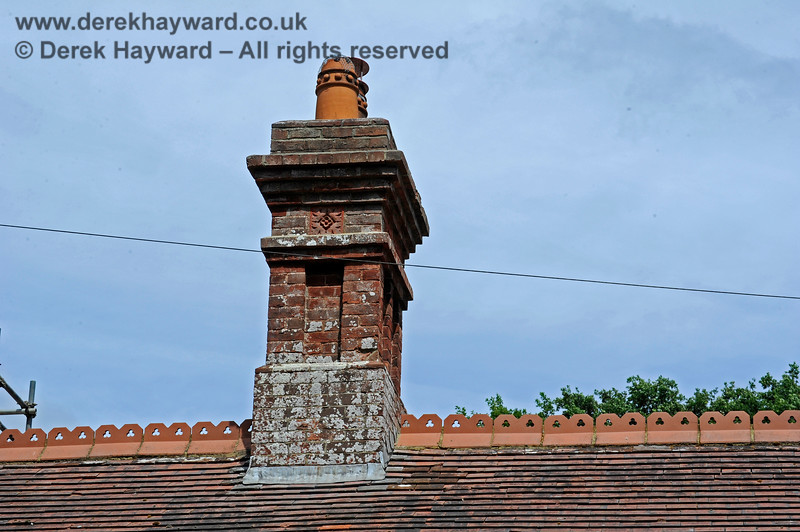 The ornate chimney on the Waiting Room at the southern end of Barcombe Station. 20.06.2020 17965  Please note that this is private property.  Images taken by arrangement, and with the permission of the owners.