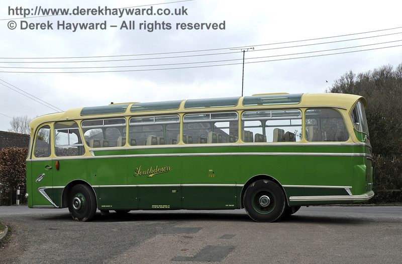 The vintage coach used by the Bluebell visitors to reach the station.  03.04.2013