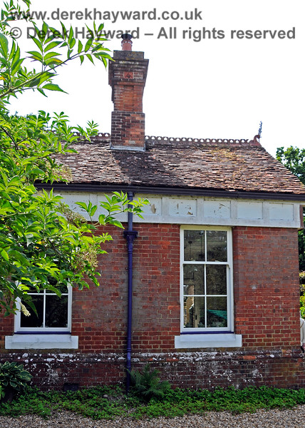 The small building at the northern end of Barcombe Station, possibly originally a Porter's Room. Note there is no ornate finish to the windows or at roof level. 20.06.2020 20477  Please note that this is private property.  Images taken by arrangement, and with the permission of the owners.