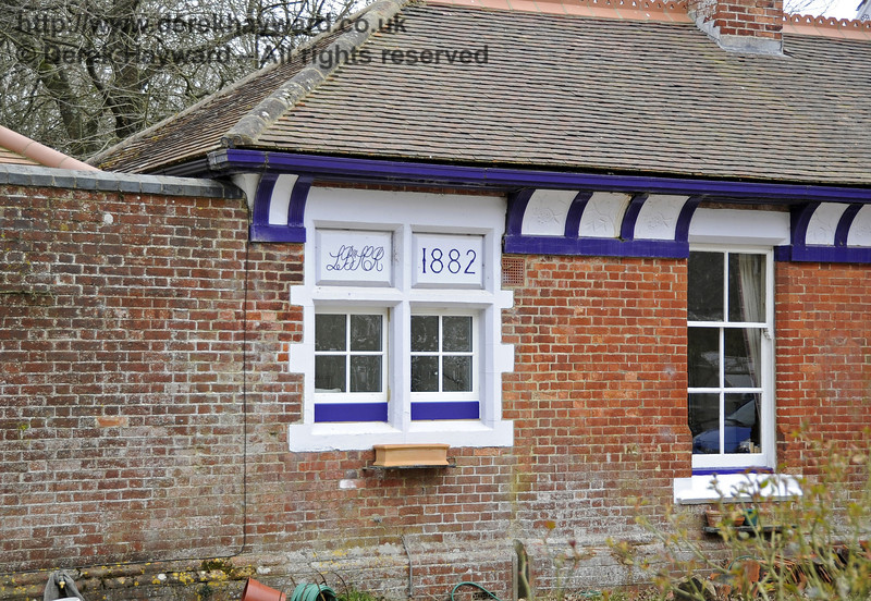 The London, Brighton and South Coast Railway (LB&SCR) left their mark on Barcombe Station in 1882, courtesy of J T Firbank, contractors who built the line.   03.04.2013  6553