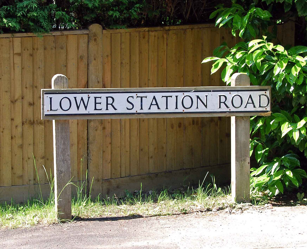 A much photographed street sign, and the only real relic of the railway in the area of Newick and Chailey.  The landscape has been completely changed by infilling and housing estates built after the railway was closed.  A number of the adjacent properties have railway related house names.