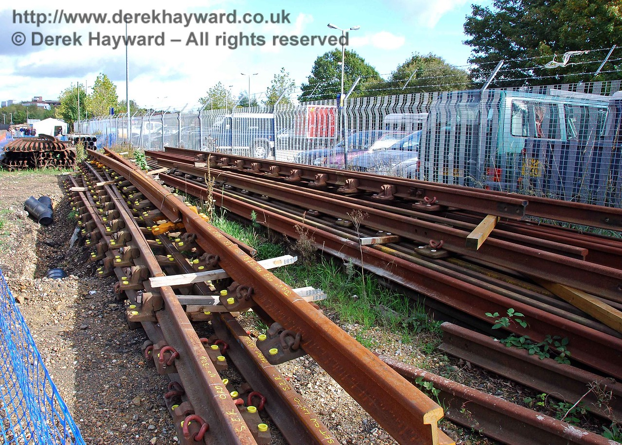 New track awaiting installation at East Grinstead Station. 10.10.2009  0002