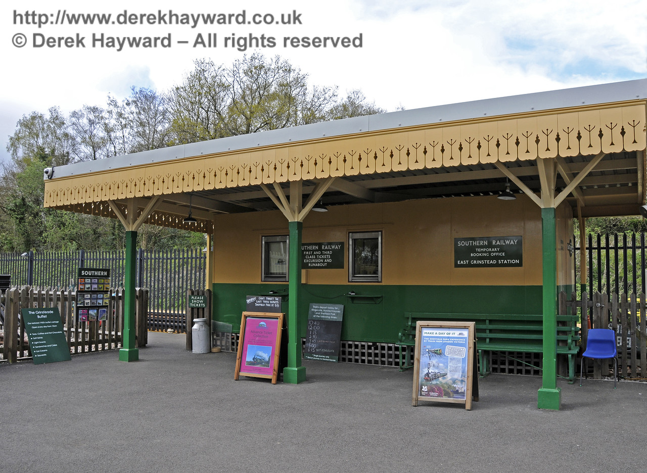 The Booking Office. Bluebell Railway, East Grinstead Station.  05.04.2014  10222