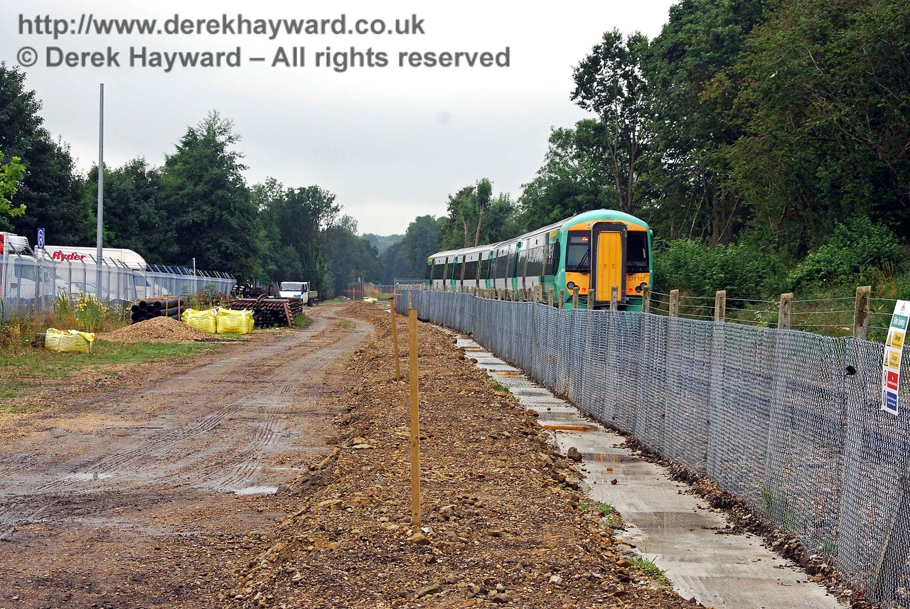 The East Grinstead Station site looking south. 07.08.2009  0119