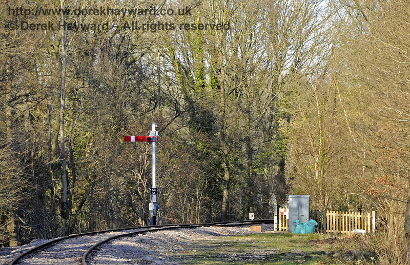 A similar view in 2013 with the Advance Starting Signal operational.  17.02.2013  6211