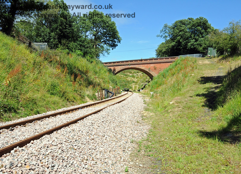 Looking north towards Imberhorne Lane Bridge from about the same spot in 2010, before the trackbed was raised.  18.07.2010  3139