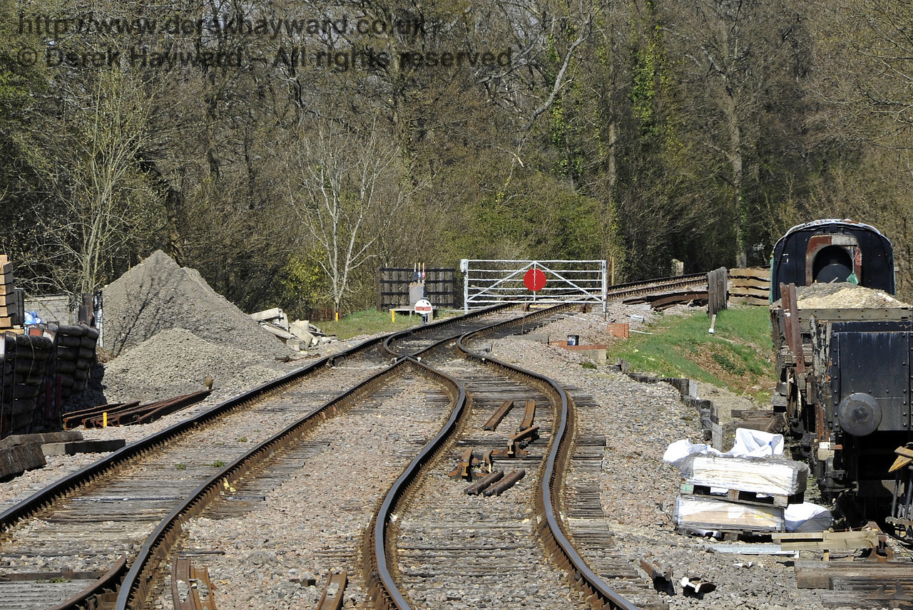 Work on the revised track layout north of Kingcote is continuing.  06.04.2012  4294