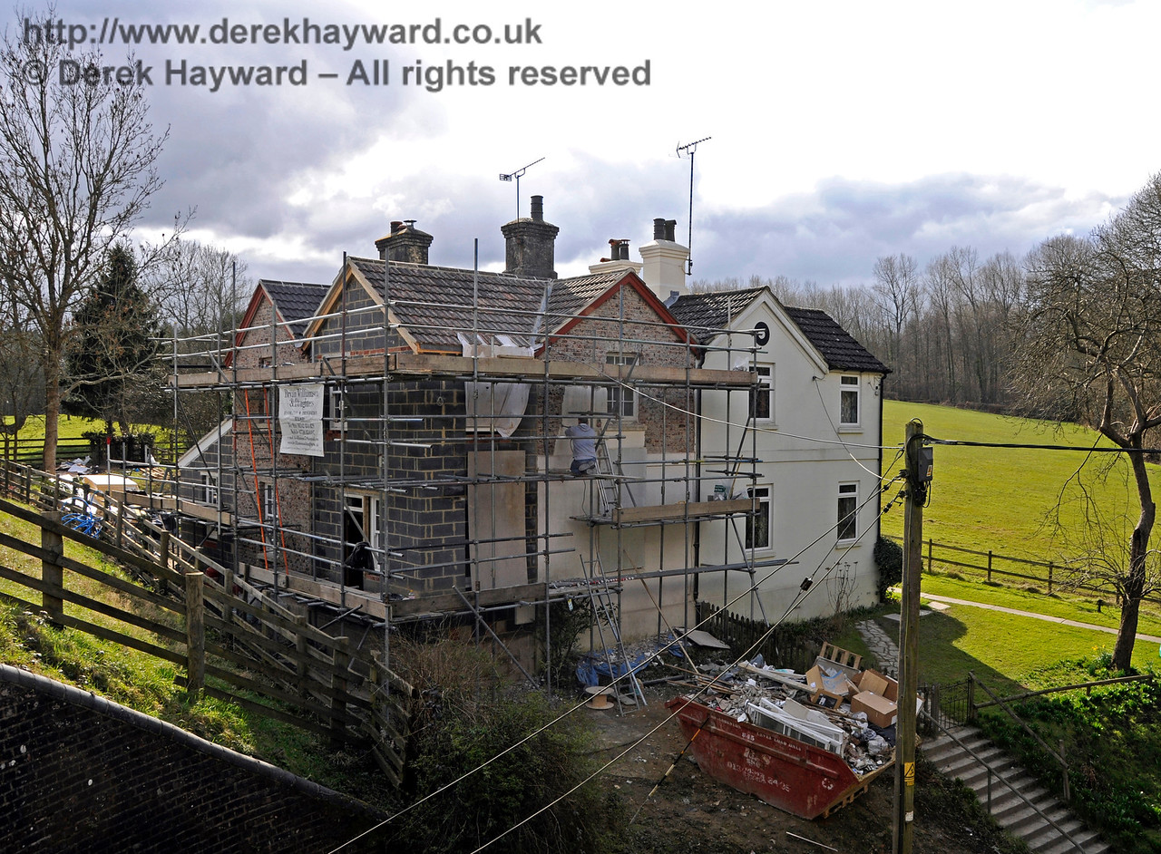 Progress on the extension to the former railway cottages at Kingscote.  28.02.2016  14548