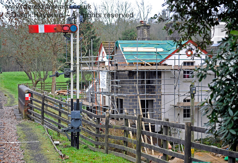 Work in progress to extend the station cottages at Kingscote. 13.12.2015 12557
