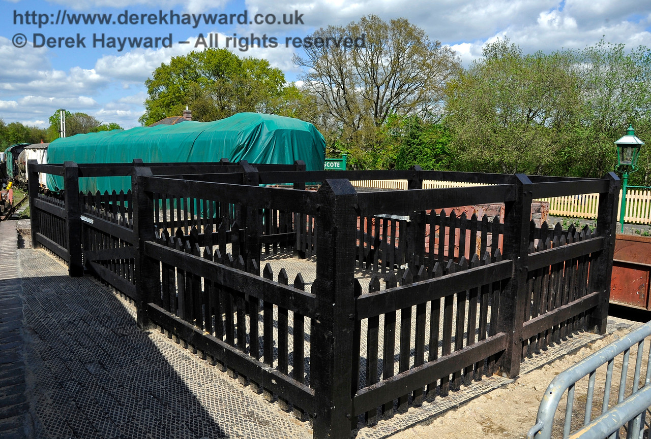 The cattle pen in the Goods Yard at Kingscote.  12.05.2012  4673