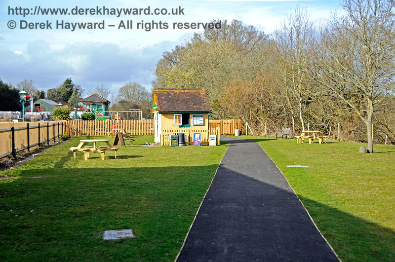The approach to the new Play Area at Kingscote.  23.03.2018 18159