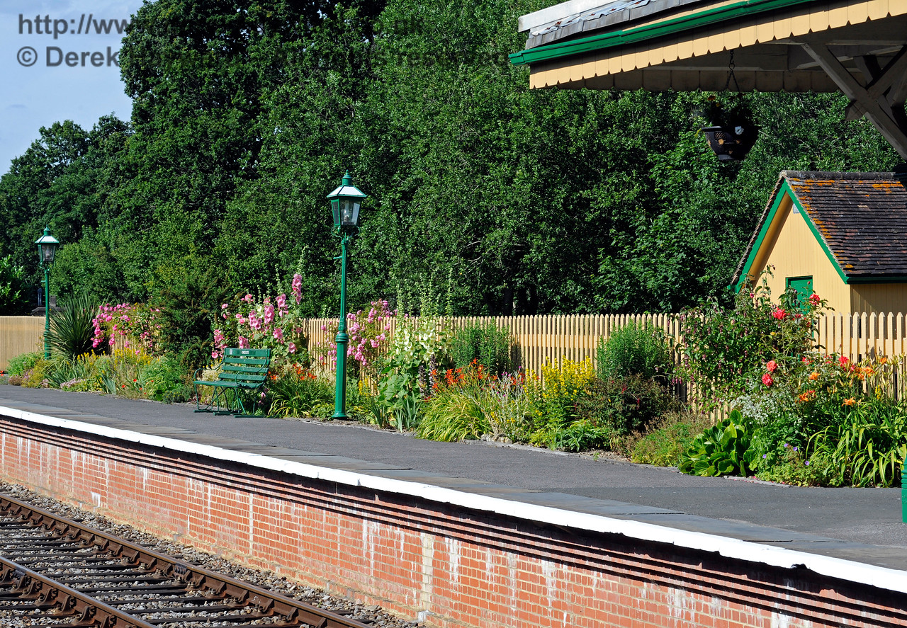 Flowers on Platform 2 at Kingscote.  11.07.2015  11613
