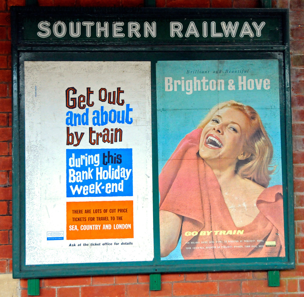 Adverts at Kingscote Station.  28.02.2016  14556