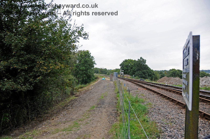 Leamland Bridge track improvements.  The surface of the public footpath has been improved, and it has been slightly widened to improve clearance past the apparatus cases.  This also allowed better clearance to be provided for S&T when they are working at the site.  24.09.2016  16380