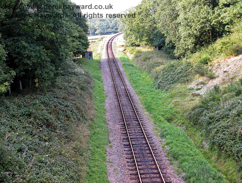 A view, taken in 2005, from the top of Three Arch Bridge looking north towards Horsted Keynes. 04.09.2005