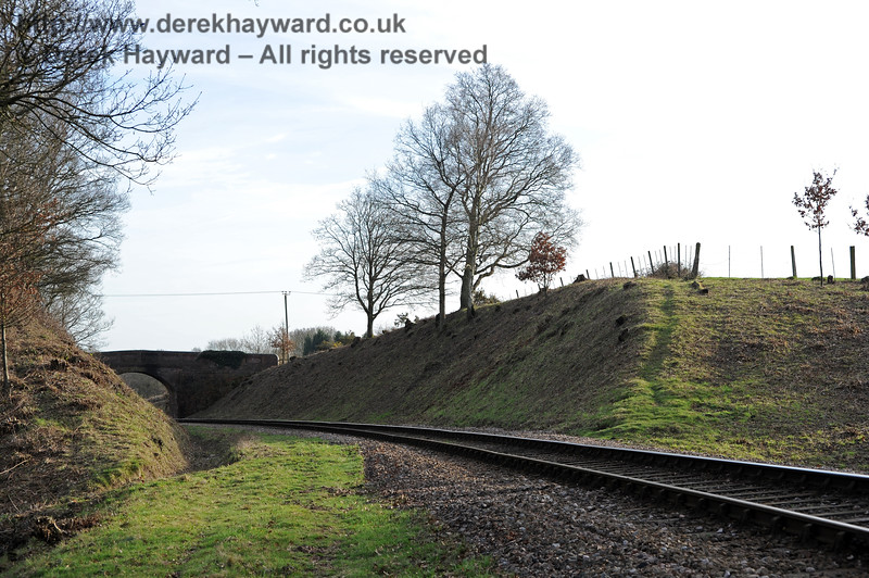 Looking south towards Caseford Bridge after lineside clearance 24.02.2011 0181