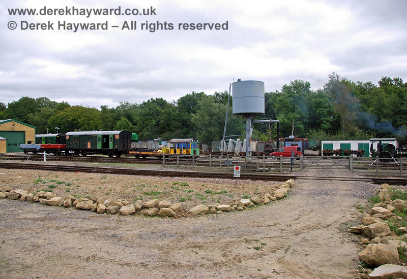 Looking from the Ardingly Spur towards the north end of the Down Yard, where locomotives can obtain water, if required. 15.08.2009 0182