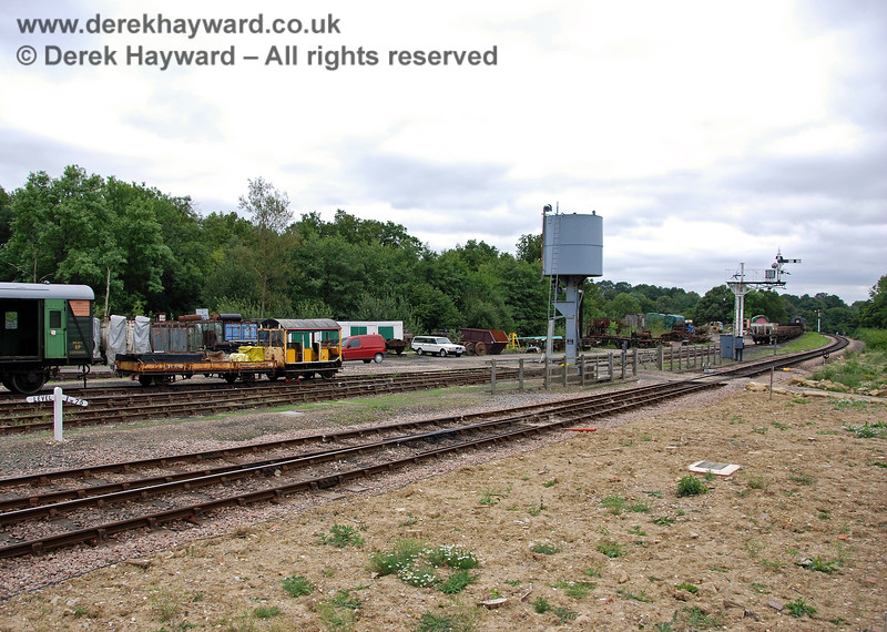 A general view of the Horsted Keynes Down Yard from the Ardingly Spur. 15.08.2009 0157
