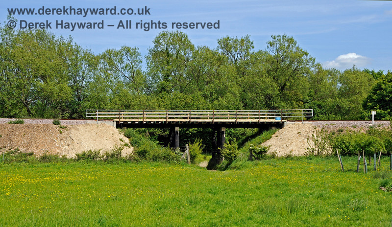 In 2018 Poleay Bridge was renewed, and the team made a very nice job of it.  This view looks east.   18.05.2018 18283