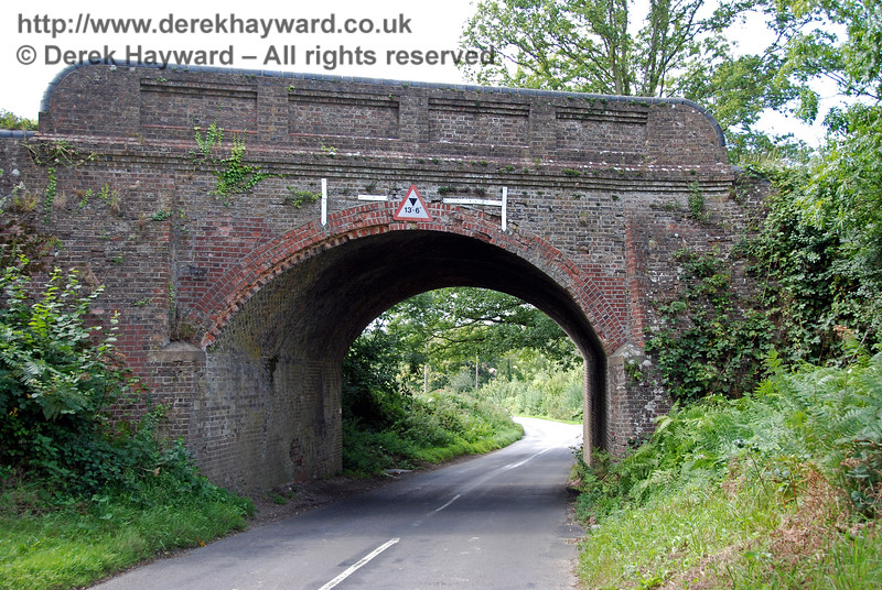 A further view of Monteswood Lane Bridge, this time looking west. 27.08.2007