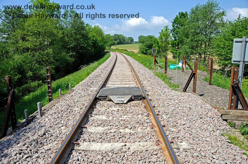 By 2018 a lot of work had been done at Tremains foot crossing.  This view looks north, with a newly fitted crossing surface within the rails.  20.05.2018 18368