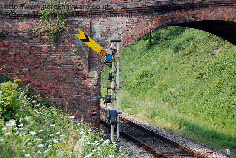 A closer view of the Distant signal at Caseford Bridge. 03.06.2007