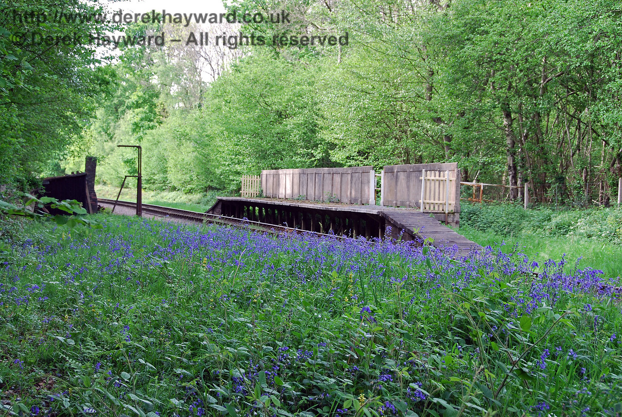 Although now closed, Ketches Halt is situated just north of Sheffield Park.  The halt was used to give access to the adjacent Ketches Farm and is well known for the display of bluebells. 08.05.2007
