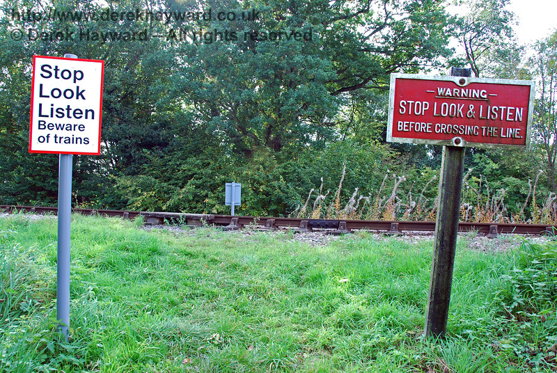 In 2008, on the eastern side of the line, the approach to Tremains foot crossing was just a muddy slope. 10.10.2008