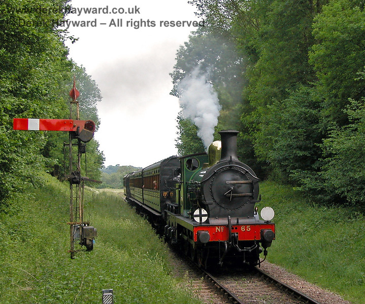 The same signal is in view a year earlier as 65 approaches Ketches Halt. 11.06.2006