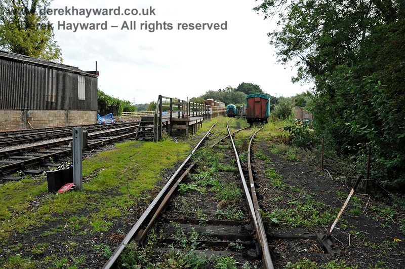 Looking south into the area that would become the carriage shed headshunt. 24.09.2011 2897