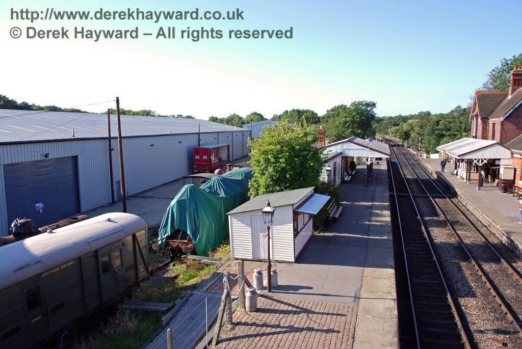 A massive project to erect a new building on the site of the western (Woodpax) sidings has now started. This view looks north towards the sidings before work started. 12.09.2009