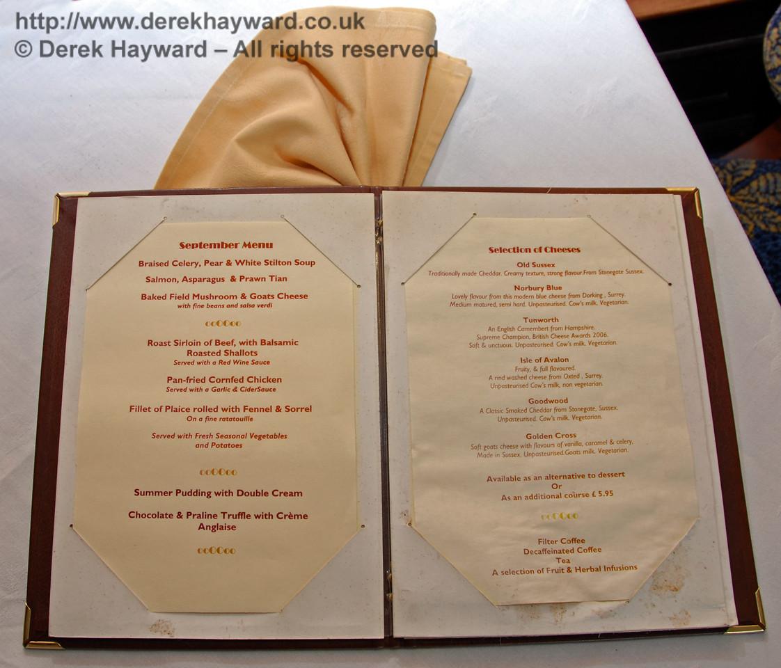 A sample menu. 12.09.2009