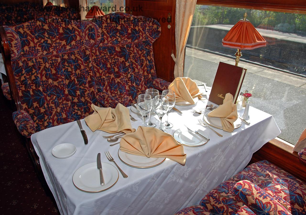 A table setting inside Christine. 12.09.2009