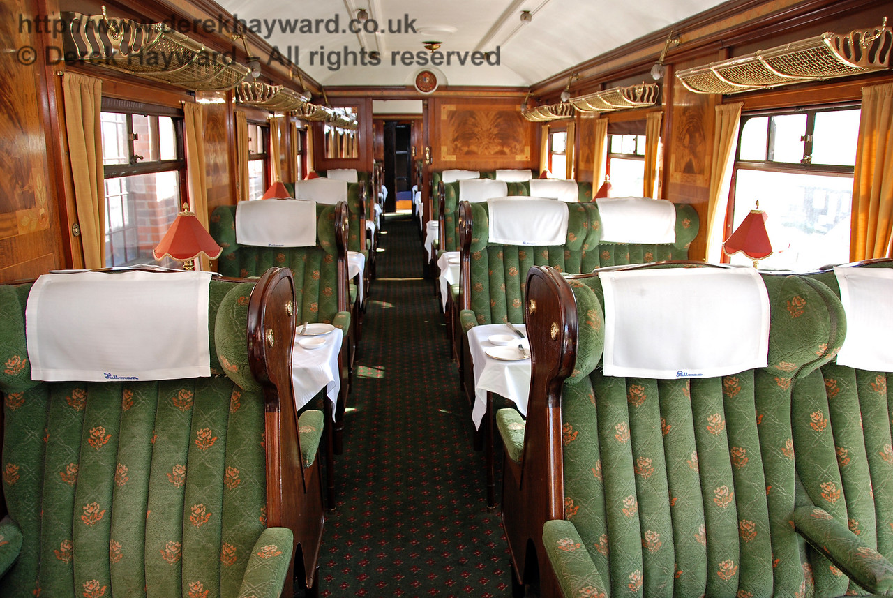 This is the interior of Lilian, named in honour of the wife of Bernard Holden, MBE, President BRPS. The coach was formerly Car No.76. 12.09.2009