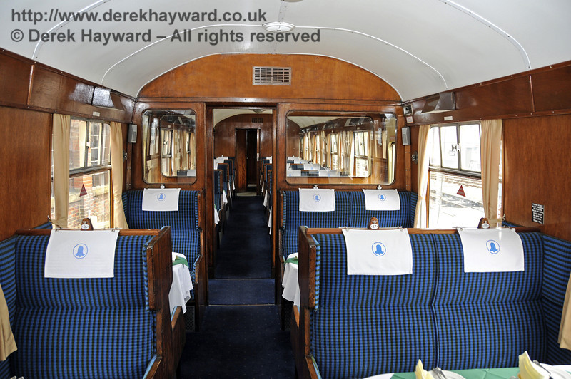 "Inside the Wealden Rambler Second Class saloon, which carries the name ""Chelwood"".  30.03.2014  10123"