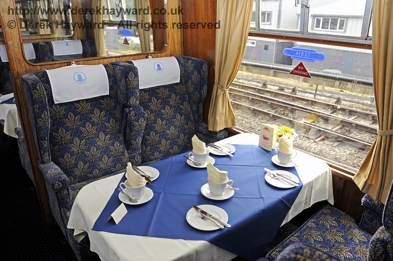 "Inside the Wealden Rambler First Class saloon, which carries the name ""Ashdown"".  30.03.2014  10118"