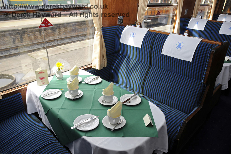 "Inside the Wealden Rambler Second Class saloon, which carries the name ""Chelwood"".  30.03.2014  10124"
